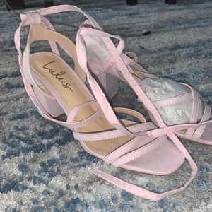 Lulus lace up heels